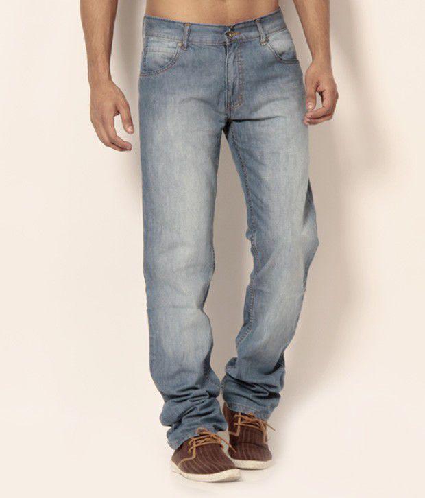 Newport Smart Light Blue Faded Jeans