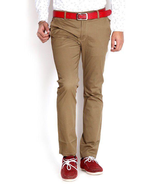 Tog Khaki Flat Front Trousers