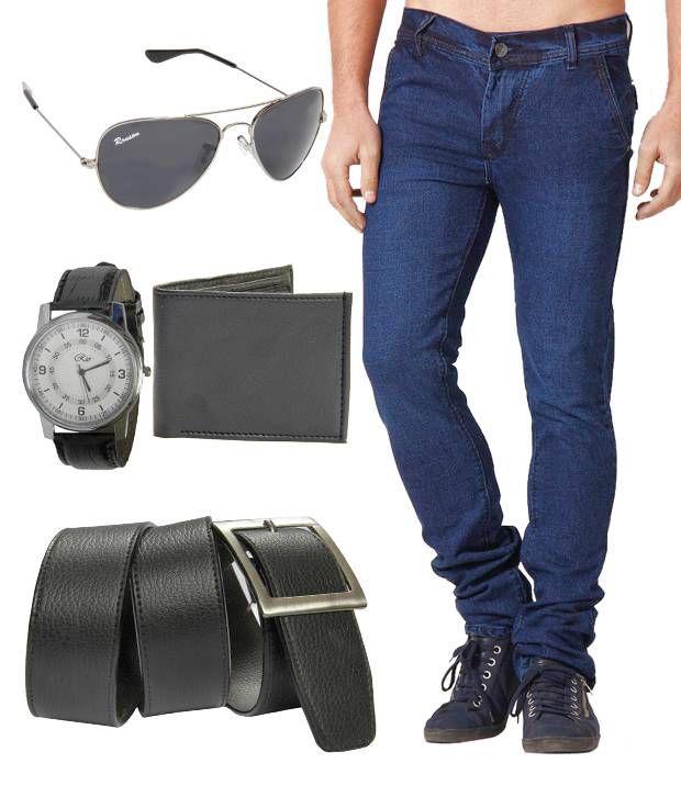 HDI Stylish Blue Basics Jeans With Freebies