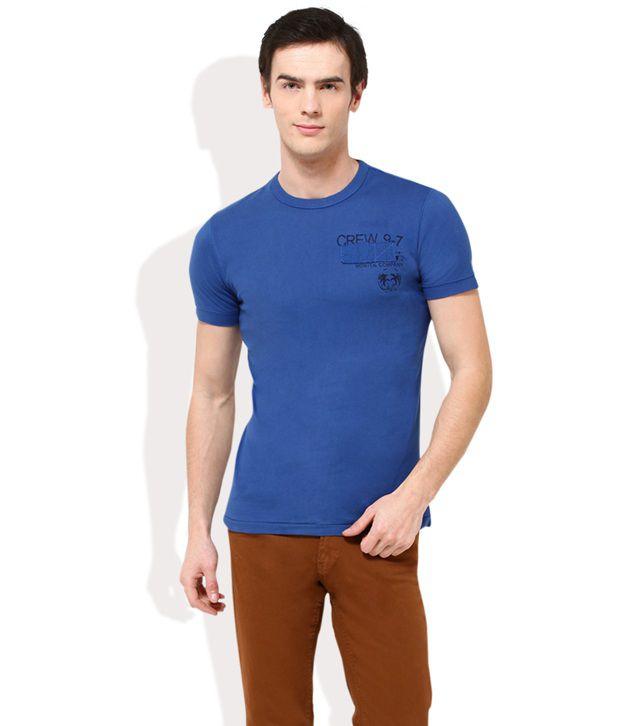 Monteil And Munero Blue Round Neck T Shirt