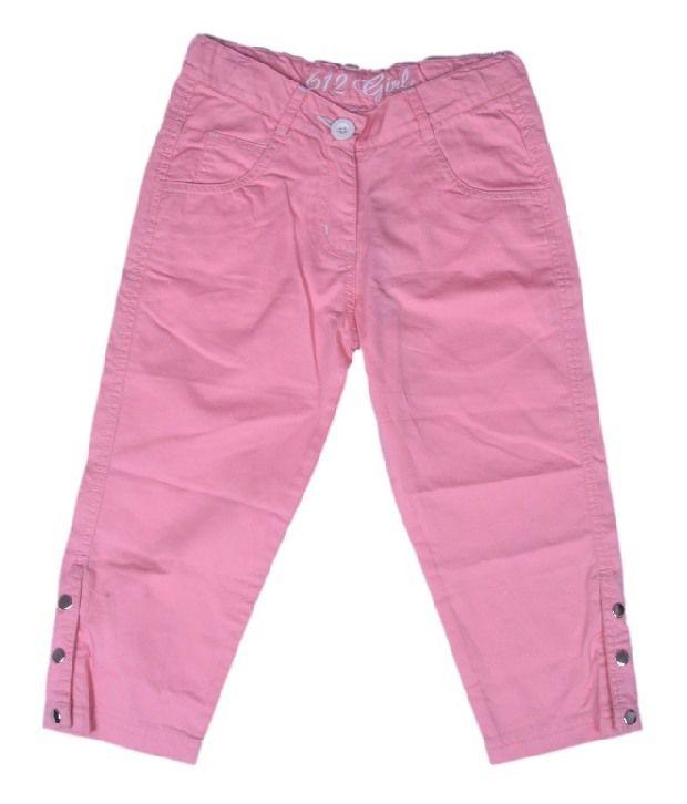612Ivyleague Light Pink Capri For Kids