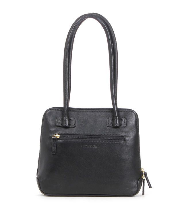7ca17571d08 Black Shoulder Bag - Buy Hidesign Estelle Small Reg. Black Shoulder Bag  Online at Best Prices in India on Snapdeal