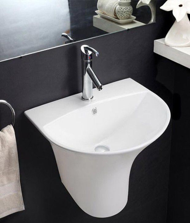 buy hindware pedestal basin kylis with semi pedestal white 91053 rh snapdeal com