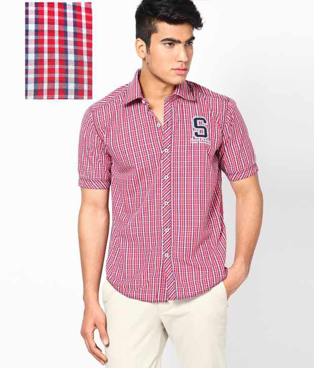 4ef5f4b046812f Cotton County Smart Red Checkered Shirt - Buy Cotton County Smart Red  Checkered Shirt Online at Best Prices in India on Snapdeal