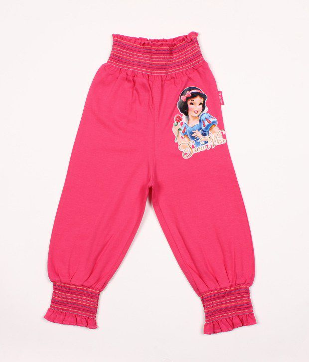 Disney Pink Cotton Capris For Kids