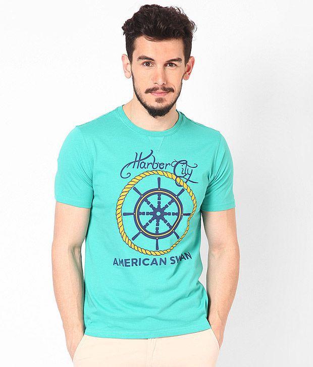 American Swan Camden Dark Aqua T Shirt