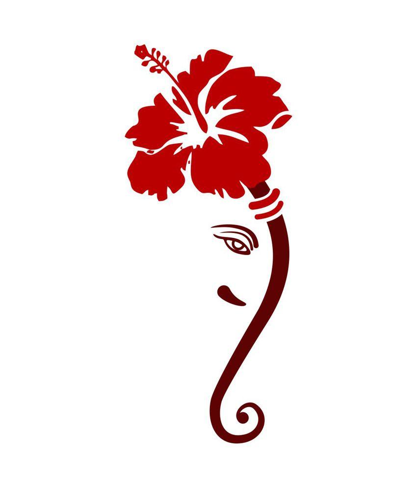 Bike stickers design online india - Chipakk Impressive Ganesha Wall Sticker Chipakk Impressive Ganesha Wall Sticker