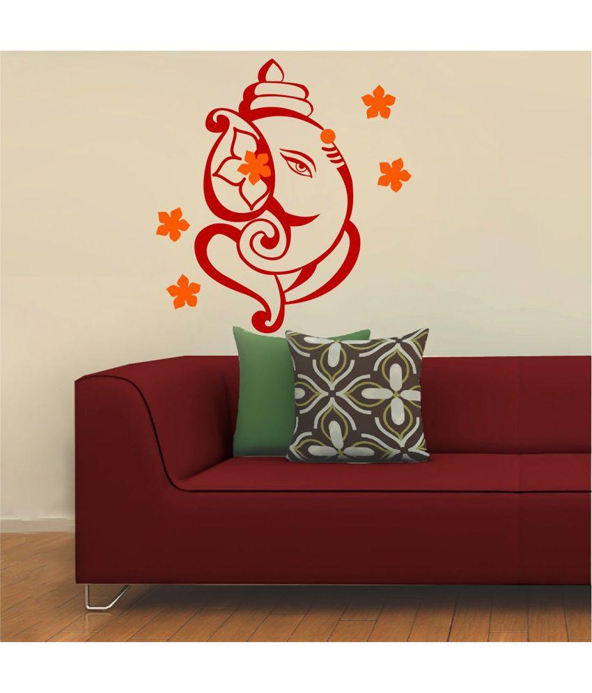 Wall stickers buy online - Chipakk Red Ganesha Wall Sticker