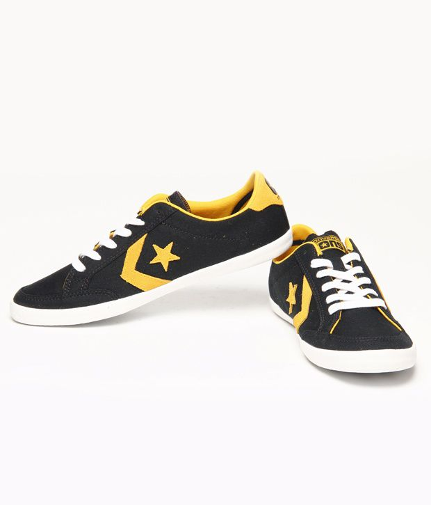 Converse Black and Yellow Men s Casual Shoes - Buy Converse Black ... 3020eb2a7