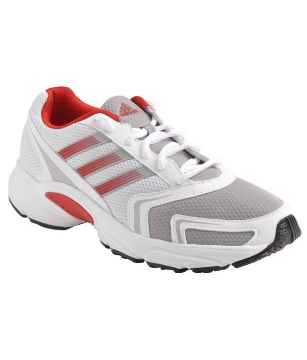 Adidas Active White & Red Sports Shoes