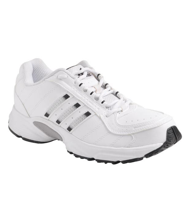 8ba21d2dc4a0 Adidas Sober White  u0026amp  Black Sports Shoes .
