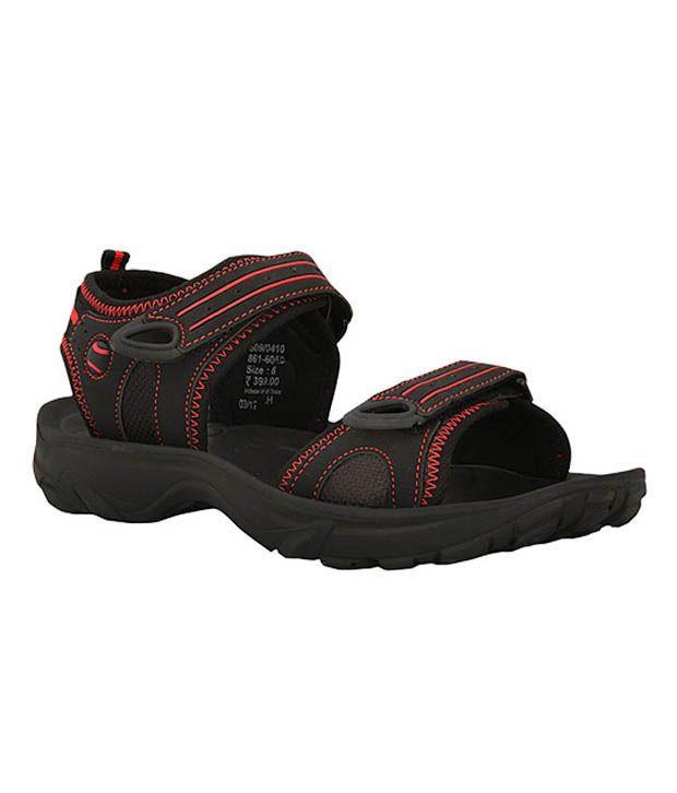 Bata Nickon Black Sandals