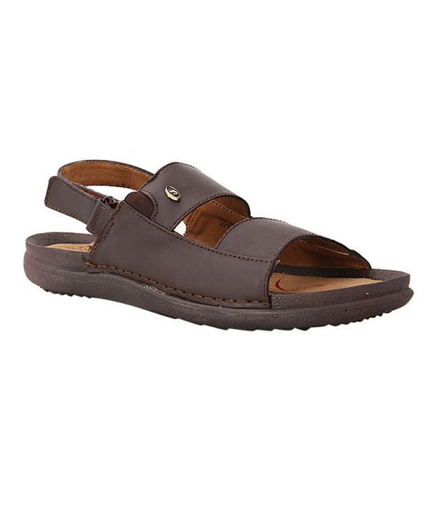 Bata Quovadis Brown Leather Sandals Price In India Buy