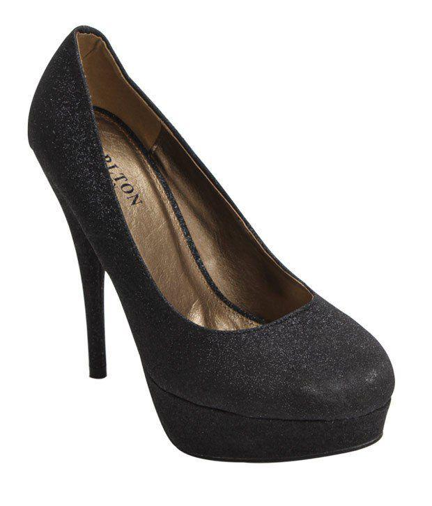 Carlton London Charcoal Black Pump Shoes