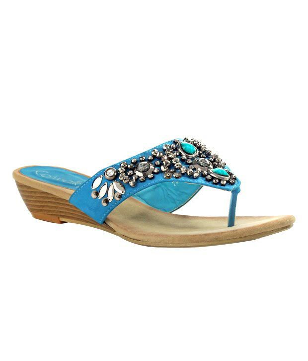 Catwalk Blue Wedge Heel Sandals