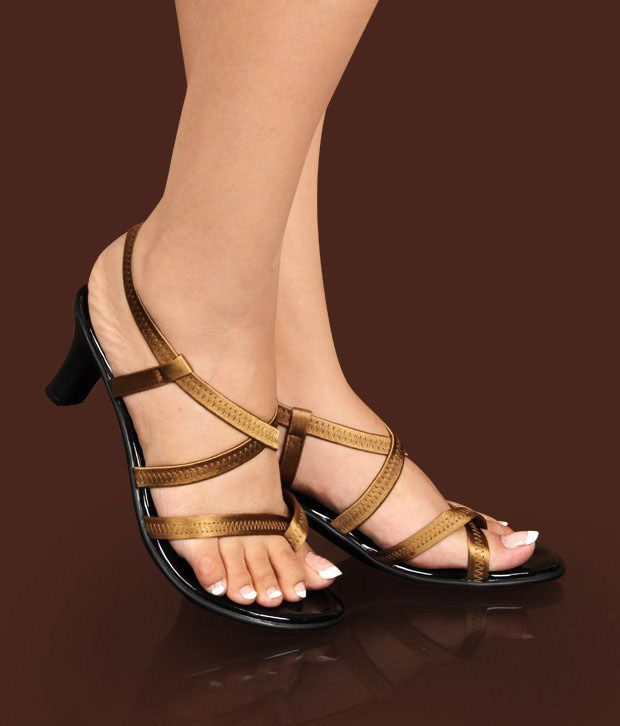Catwalk Gorgeous Golden Heel Sandals