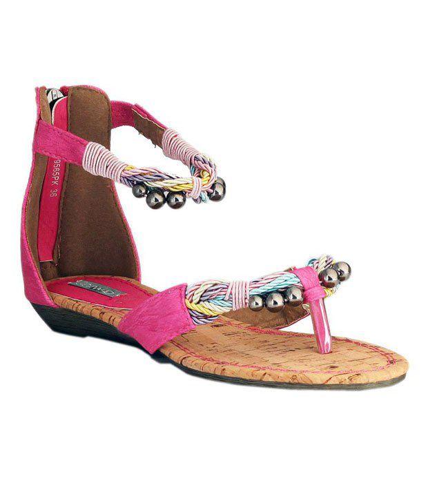 Catwalk Pink Ghungroo Sandals