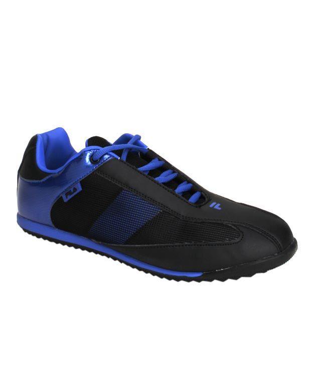 Fila Tough Black & Royal Blue Sports Shoes