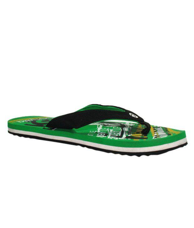 Globalite Trendy Green Flip Flops