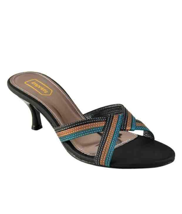 Imprints Stylish Grey Slip-on Heels