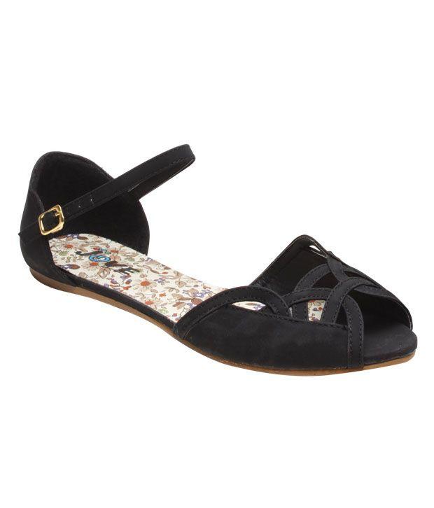 Jove Black Buckle Sandals