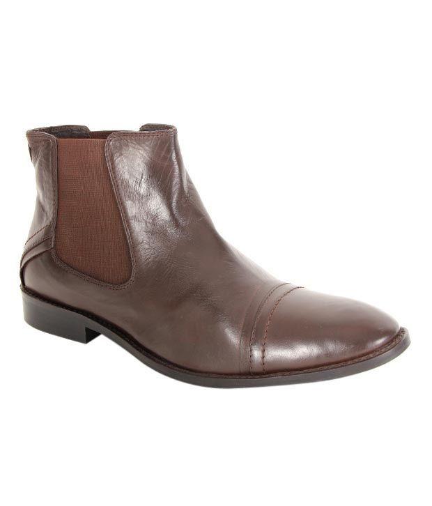 Krush Dark Brown High Ankle Boots