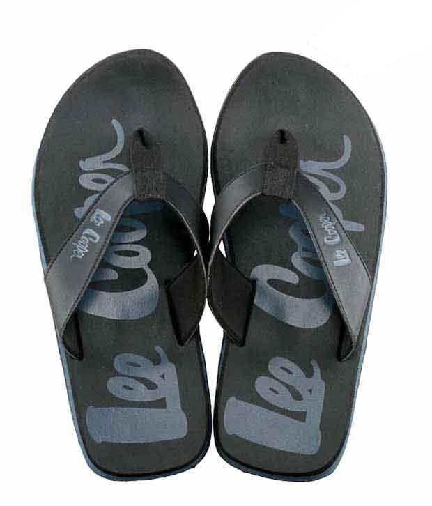 Lee Cooper Stylish Black Slippers