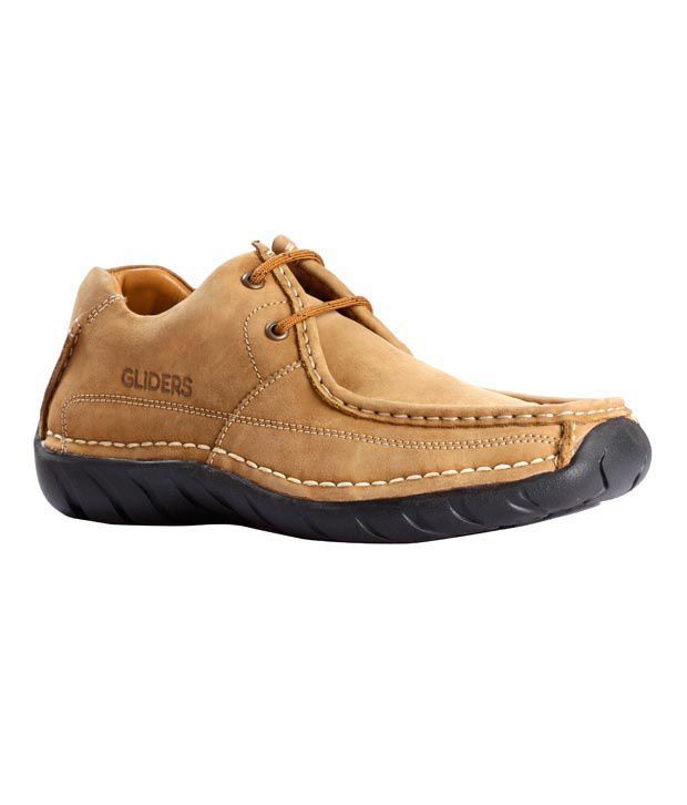 ... Shoes Price in India- Buy Liberty Gliders Camel Leather Shoes Online