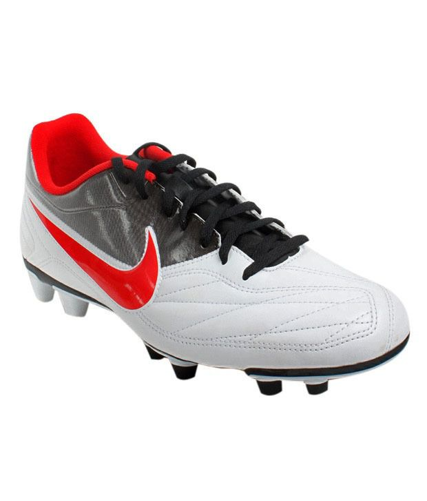 Nike Active White & Red Soccer Shoes
