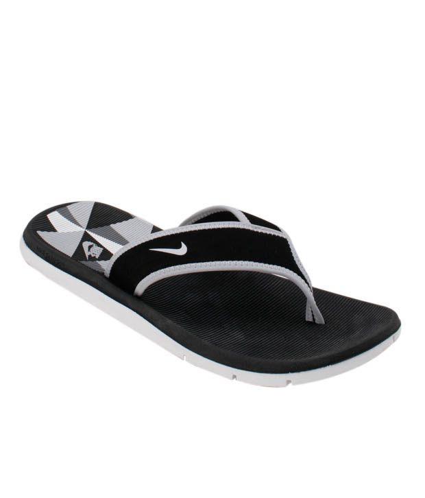 sports shoes 91e55 3e7e9 Nike Celso Solar Soft Black & Grey Slippers
