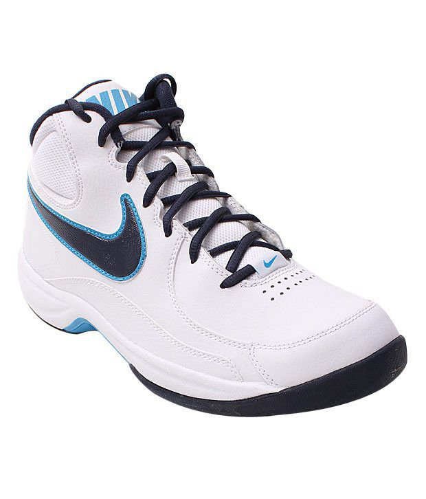 37474efad297 Nike Overplay White   Blue Basketball Shoes - Buy Nike Overplay White    Blue Basketball Shoes Online at Best Prices in India on Snapdeal