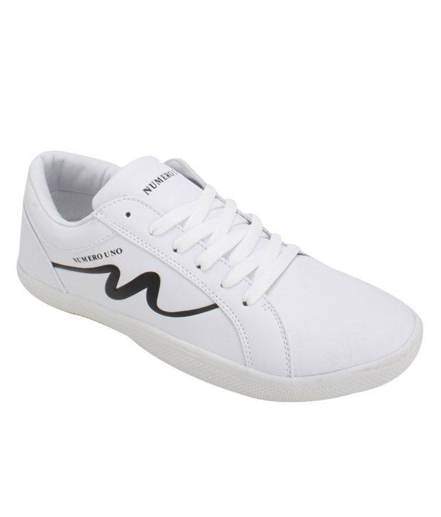 Numero Uno Bravo White Casual Shoes
