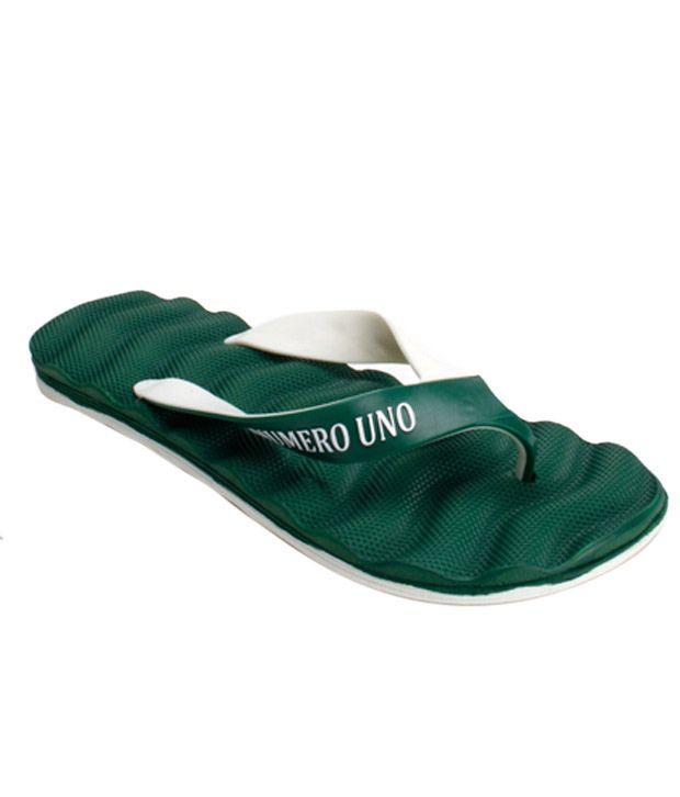 Numero Uno Gusty Green Flip Flops