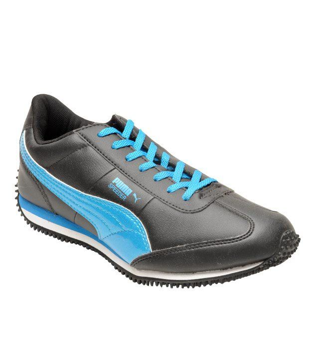1e1c7a5c3504 Puma Speeder Black   Blue Running Shoes Price in India- Buy Puma Speeder  Black   Blue Running Shoes Online at Snapdeal