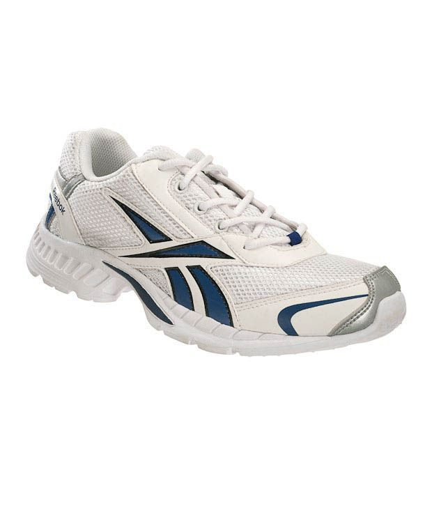 Reebok Swift II White & Blue Running Shoes