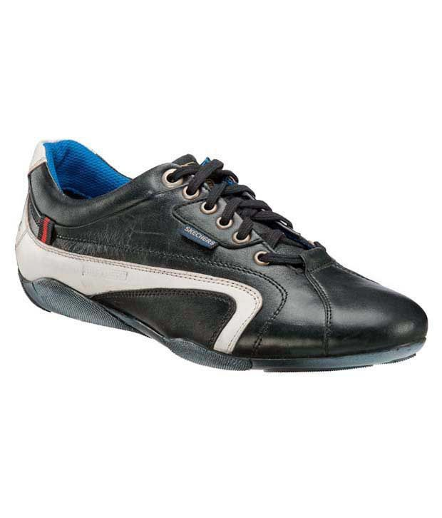 sketchers black and white shoes