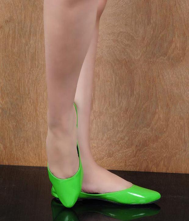 Stylewalk Green Modish Ballerinas