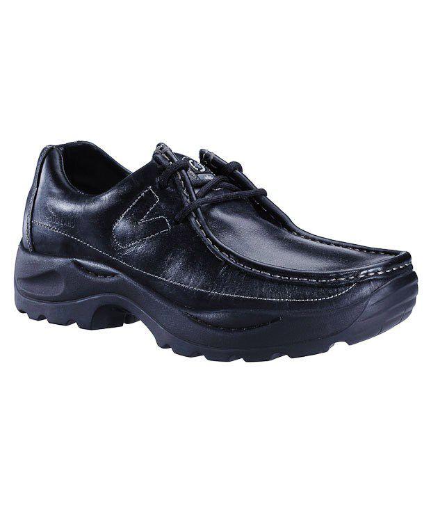 woodland shoes leather black