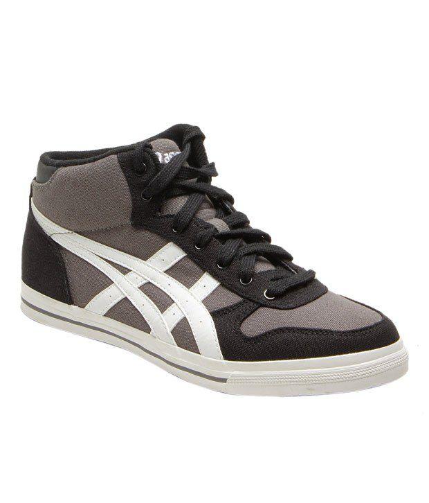 Asics Trendy Grey & Black Canvas Sneakers