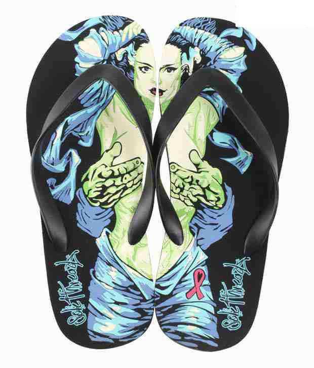 Aura Bold Black Slippers