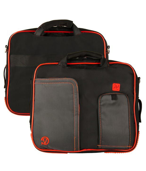 Black and Red VanGoody Pindar Laptop Case for Toshiba Protege R930-X0110/R700-I3330 13.3-inch ..