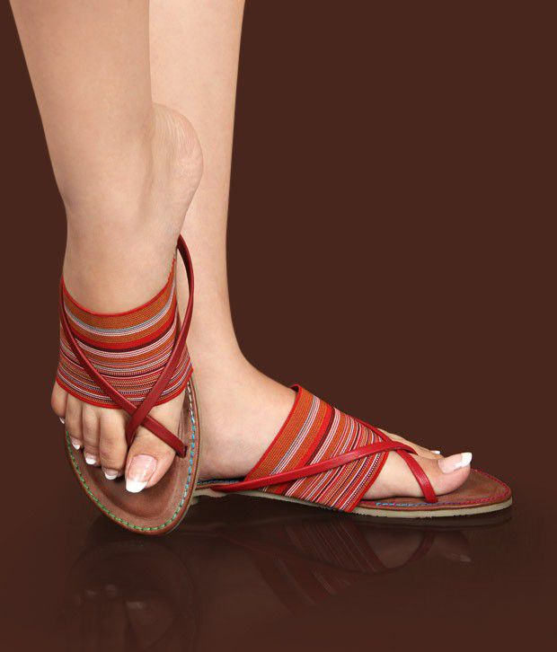 Catwalk Casual Red Sandals