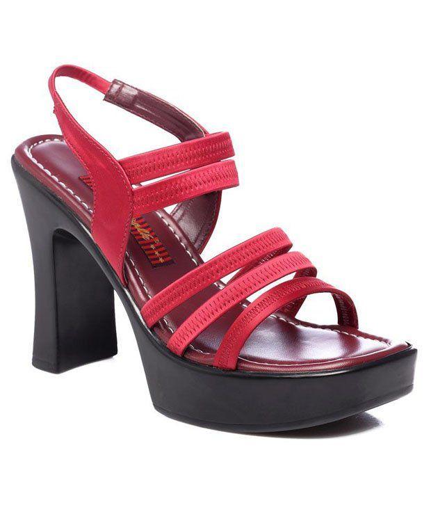 Citywalk Classic Maroon Heel Sandals