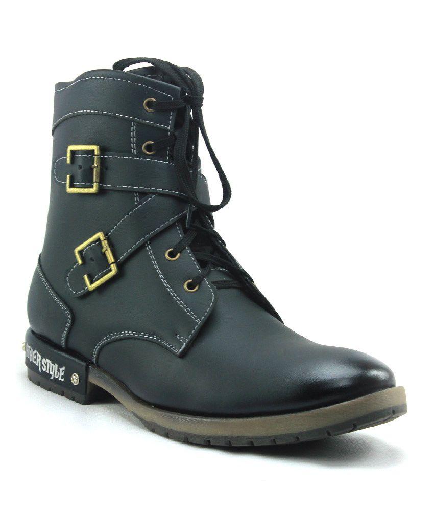 D'Ziner Universo Black Boots For Men