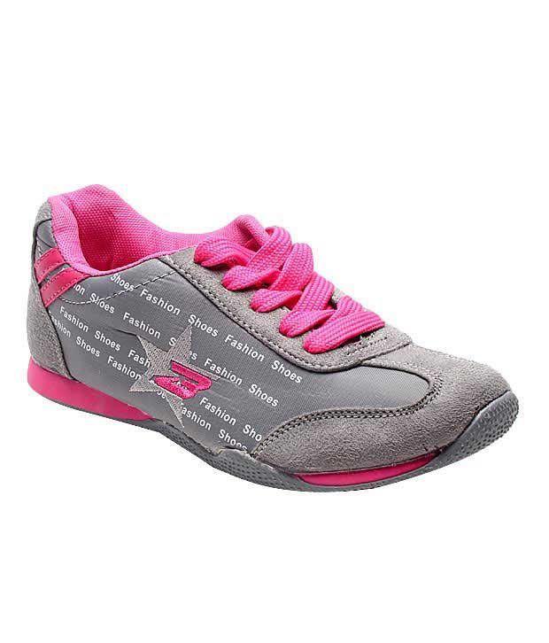 Everyday Fashion Grey & Fuchsia Pink Running Shoes