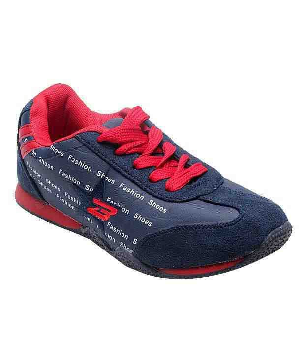 Everyday Fashion Navy Blue & Red Running Shoes