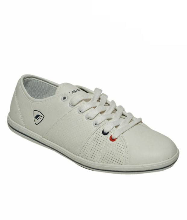 F Sports Smart White & Black Sneakers