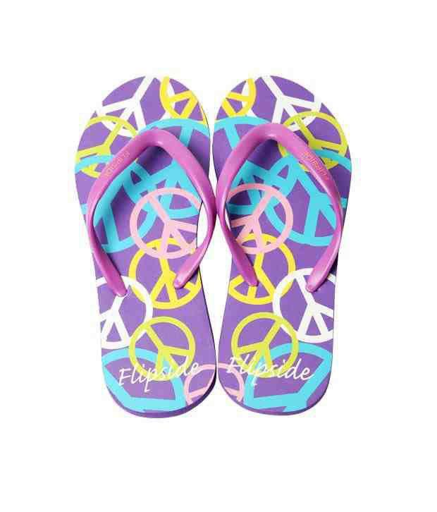 Flipside Peace Purple & Mauve Flip Flops