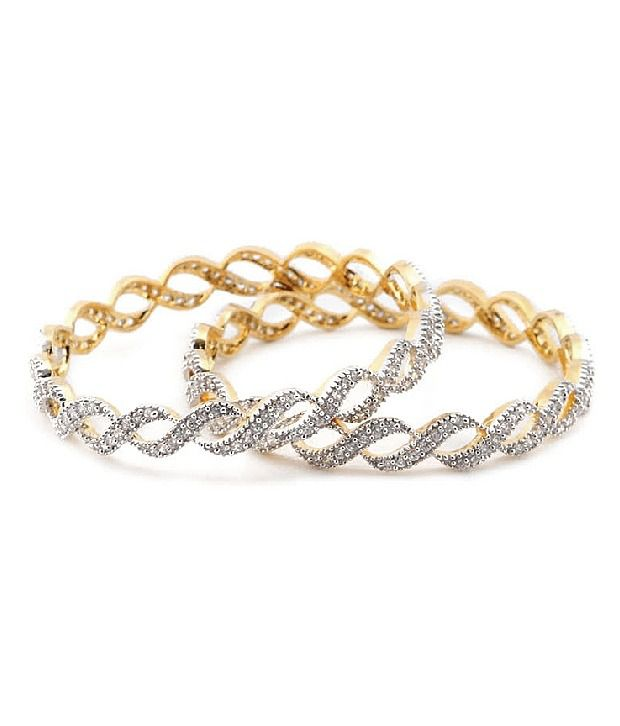 Sparkle Street Ethnic Designer Golden Bracelet
