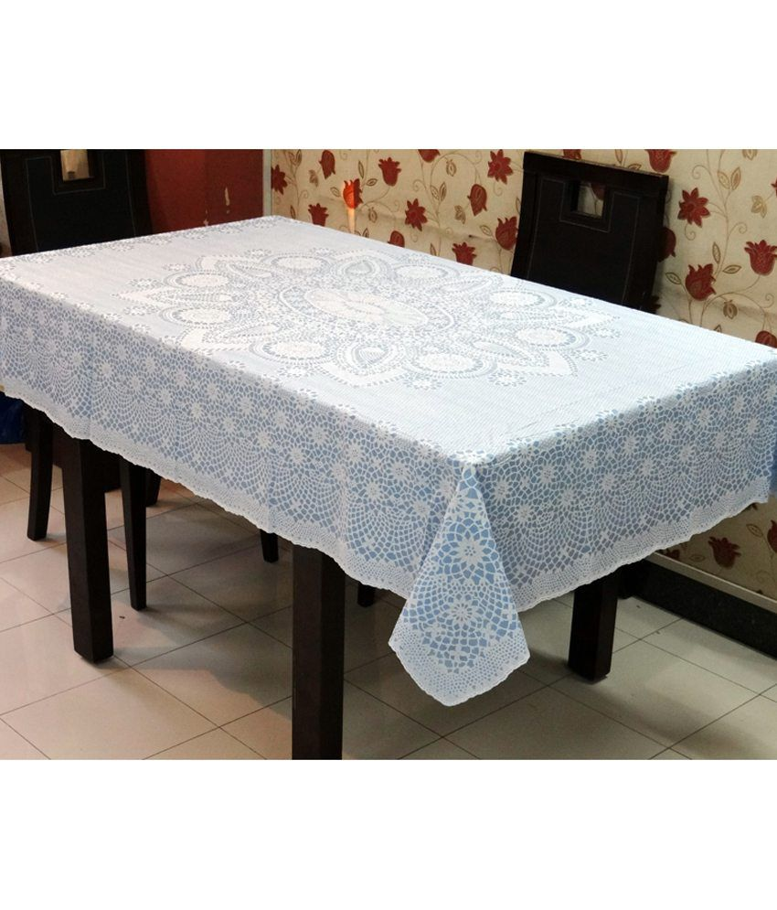 katwa clasic 52 x 72 inch lace vinyl tablecloth crosia